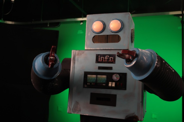 INFO the Robot, played by Craig Curtis, created by Nathan Stipes and team.